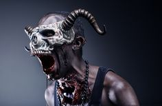 """BOOGIE""— Creative Director/Model: Strike Boogie Photographer: Kyle Marko – Kreativek Photography Skull Mask: Mark Andrew Schneider – Faust & Company SFX/Makeup: Stefanie Brown – Makeup by Stefanie"