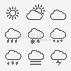 ベクトルアート : Meteorology icons