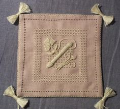 Casalguidi and Lavender ~ an EGA correspondence course project designed by Barbara Kershaw ~ worked on 28 ct linen with pearl cotton threads ~ by Jeanne of Just String