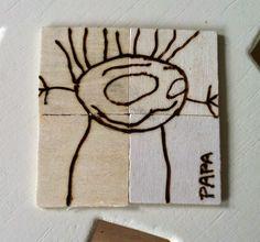 www.houtspel.nl: Knutsel een houten onderzetter voor vaderdag
