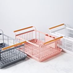dish racks Wood-Handled Dish Rack on Vintage Modern, Small Space Organization, Dish Racks, Japanese House, Japanese Design, Food 52, Elle Decor, Countertops, Small Spaces