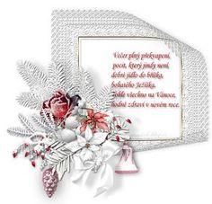 Vánoční přání s říkankou   vánoční blog Congratulations, Christmas Wreaths, Birthdays, Blog, Holiday Decor, Frame, Cards, Winter Craft, Advent
