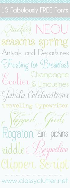 15 Fab FREE fonts. Great tutorial on how to install! #freefonts #fonts #free