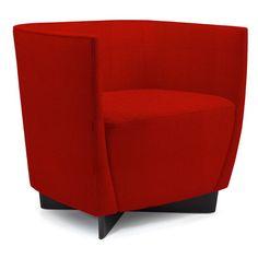 David Edward Vella Lounge Chair Finish: Macassar, Seat Color: Flare Epic
