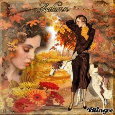 Vintage Herbst Frauen