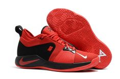 aefb5950b8d5 2018 Nike PG 2 University Red and Black For Sale Lbj Shoes
