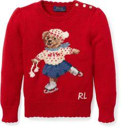 c7734c7de Polo Ralph Lauren Little Girls Holiday Bear Sweater