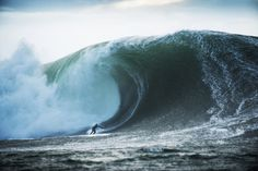 Brazilian Danilo Couto surfing XXL big wave in Ireland. Photo by Laurent Pujol.