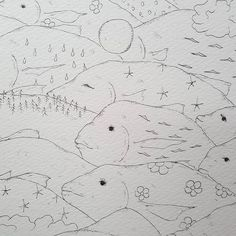 【tear_monster】さんのInstagramをピンしています。 《Moving forest - School of fish うごく森 - 魚の群れ  http://tearmonster.jp/  #movingforest  #schooloffish #魚の群れ #fish #魚 #mountainrange  #flower #花 #forest #森 #tree #moon #月 #sun #太陽 #sea #海 #wind #風  #rain #雨 #cloud #イラストレーション #イラスト #illustration #drawing  #art #artinspires #artislife #contemporaryart》