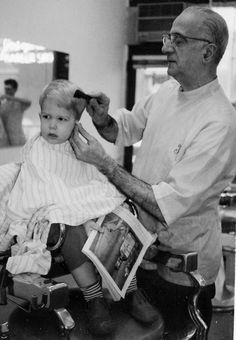 Barber Shop Louisville : boy being shaved by a barber shave Pinterest Barbers and Capes