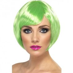 Economy Lime Green Bob Wig - and Wigs - Candy Apple Costumes da7163dcf