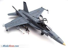 "Professionally built 1/32 scale model airplane of a McDonnell Douglas / Boeing F/A-18C Hornet ""Ragin' Bulls""."
