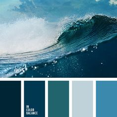 Noble deep palette, which is associated with a powerful and strong ocean. Due to the black tone of azure, dark blue, celadon become deeper and richer. Transparent blue facilitates and dilutes. Ideal for bathroom design. Tile or mosaic, made in marine colors create a sense of freshness and vivacity.
