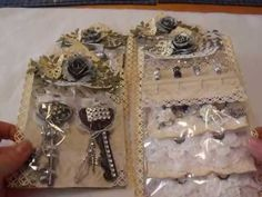 ▶ Scrapbook Embellishment Swap-Altered Bottle Caps & Keys, Stick Pins, and Flowers - YouTube