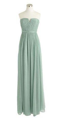 Nadia long dress in silk chiffon (bridesmaid dresses maybe)
