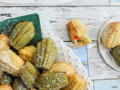 Madlenky - vanilkové a s matcha tea Fresh Rolls, Matcha, Den, Ethnic Recipes, Blog, Blogging