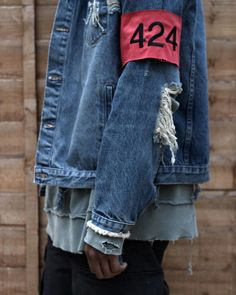 424 Destroyed Denim Trucker Jacket - Coming soon to EJDER #424 #424fairfax