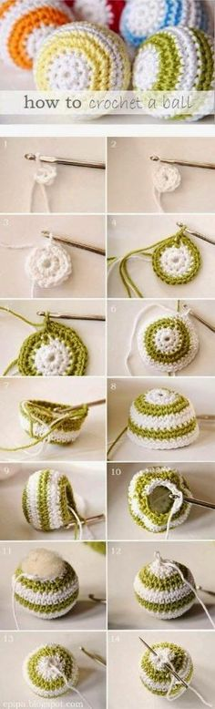 How to crochet a ball... by helga