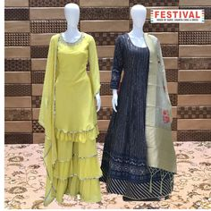 Garrara Suit and Anarkali Dress Celebrate every Festival with our Big FESTIVAL SALE ♦️Shop at FESTIVAL LALGATE SURAT ♦️New arrivals ♦️Lehanga choli , Gowns , Sarees ♦️Dm us for product inquiry or to shop on video calling ♦️Follow us @festival.india . . . . . #Festival #Festivalindia #indianclothing #handwork #bollywoodstyle #occasionwear #indiantradition #tradionalwear #bridalcouture #indianbride #threadwork #silk #indowestern #festive #festiveseason #plazosuits #ethnic ##festi