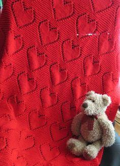 Lovely heart baby blanket..