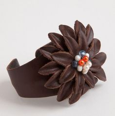 Leather Cuff Bracelet - Mud Pie Jewelry