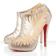 "Very interesting and beautiful. ""Christian Louboutin Marale 140mm Booties"""