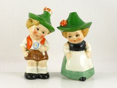 Vintage Goebel Hummel German Couple Salt and Pepper Shakers