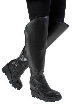 Black Ribber ASH Respect Knee High Boots @ 5&Diamond $450 Gorgeous