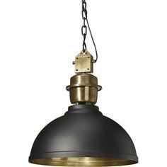 Industrilampa Manchester för din inredning! Stor taklampa i svart, vit, mässig & silver från PR Home. Lampa i rustik industristil för kök och vardagsrum!