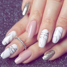 Marble nails - unhas marmorizadas