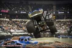 """A birthday bash was held this past weekend and the delighted 10,000-pound guest of honor celebrated by revving up and crushing some cars. The legendary """"Bigfoot"""" monster truck, a jacked-up 1974 For..."""