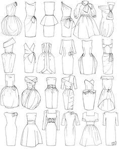 Dress Design Drawing, Dress Design Sketches, Fashion Design Sketchbook, Art Drawings Sketches Simple, Fashion Design Drawings, Fashion Sketches, Easy Drawings, Fashion Drawing Dresses, Fashion Illustration Dresses