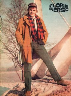 "Romanian actor Florin Piersic. Pinup from ""Cinema"" magazine (April 1969)"