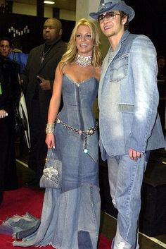 Denim overload! Britney Spears & Justin Timberlake, 2001 / I've always been obsessed with this dress