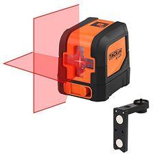 Tacklife SC-L01 Classique Niveau Laser Crois 15m /Laser Horizontal et Verticale /Grand Angle de 110°/Verrouillable /Laser Rouge et Brillant…