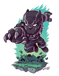 chibi marvel chibi black panther by Chibi Marvel, Marvel Art, Marvel Heroes, Marvel Avengers, Black Panther Art, Black Panther Marvel, Comic Kunst, Comic Art, Comic Book