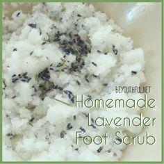homemade lavender foot scrub