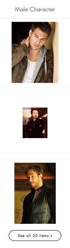 """Male Character"" by crystalgriffin-ffn ❤ liked on Polyvore featuring marvel, tony stark, avengers, people, robert downey jr, kris holden-ried, lost girl, kris holden ried, males and harry potter"