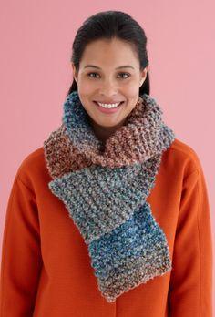 Free Knitting Pattern L20058D Beginner One Ball Scarf : Lion Brand Yarn Company
