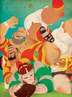 Bara´s Distraction, yesyaoiyeah: Drawn by Dronio xD Rugby Images, Bear Cartoon, Rugby Players, Bear Art, Pictures Images, Digital Illustration, Comic Art, Illustrators, Photo Art