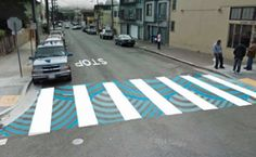 SF Beautiful granted more beautification funds! Passage Piéton, Pedestrian Crossing, Urban Ideas, Urban Design Diagram, Pavement Art, Zebra Crossing, Street Mural, Walking Street, Sidewalk Art