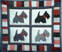 Scottie baby quilt | ARTS & CRAFTS | Pinterest | Quilt, Babies and ... : scottie quilt pattern - Adamdwight.com