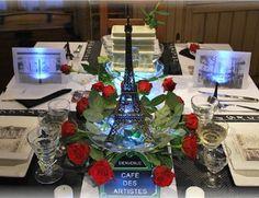 """Table """"Paris, je t'aime"""" - Les jolies tables de Stef - Journal des Femmes Décoration"""