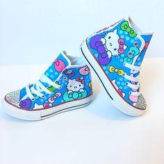 Custom hand painted hello kitty shoes!