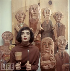 Maria Sol Escobar (born May 22, 1930), aka Marisol, is a sculptor born in Paris of Venezuelan lineage, working in the New York City.