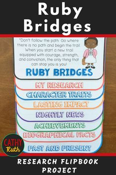 Ruby Bridges Biography Research Project, Flip Book, Famous Women Books That Are Movies, American History Lessons, Women's History, Black History, Research Projects, History Projects, Biography Project, Classroom Activities, Preschool Classroom
