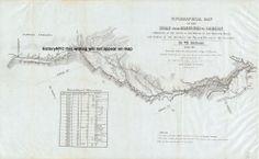 1846 LARGE OREGON TRAIL MISSOURI MAP W/ INDIAN & WEATHER DATA section 1