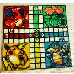 Pokemon ludo hama beads by temaria_fritaku