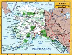 Really great map of Alaska Alaska Our adopted home state
