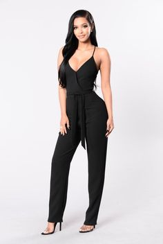 Dynamite Crush Jumpsuit - Black